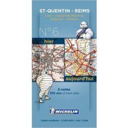 Saint Quentin - Reims térkép  8006. 1/200,000