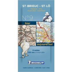 Saint Brieuc - Saint Lô térkép  8009. 1/200,000