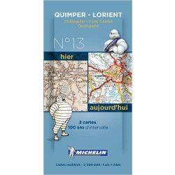 Quimper térkép  8013. 1/200,000