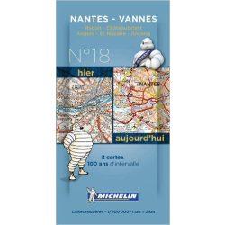 Nantes - Angers térkép  8018. 1/200,000