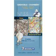 Grenoble - Torino térkép  8033. 1/200,000