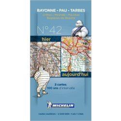 Bayonne - Tarbes térkép  8042. 1/200,000