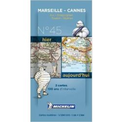 Marseille térkép - Cannes térkép  Michelin 8045. 1/200,000