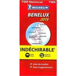 795. Benelux államok térkép Michelin 2015 1:400 000