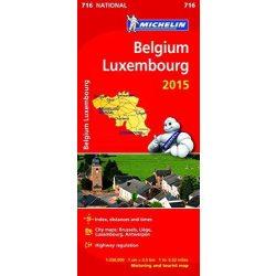 716. Belgium térkép Michelin  1:350 000  2015 Luxembourg térkép