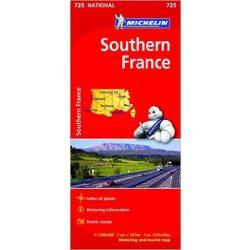 725. Dél-Franciaország térkép Michelin  1:1 000 000  2017