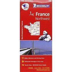 706. Északnyugat-Franciaország térkép Michelin  1:500 000  2017