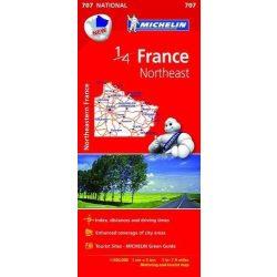 707. Északkelet-Franciaország térkép Michelin  1:500 000  2017