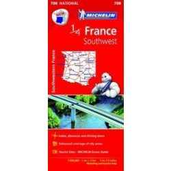 708. Délnyugat-Franciaország térkép Michelin  1:500 000