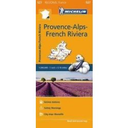 527. Provence térkép, Provence-Alps térkép, French Riviera térkép Michelin  1:275 000