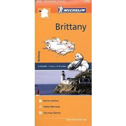 512. Brittany térkép, Bretagne térkép Michelin 1:200 000