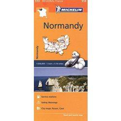 513. Normandia térkép Michelin  1:200 000  Normandy térkép