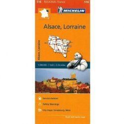516. Alsace, Lorraine térkép Michelin 1:275 000