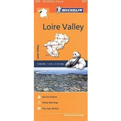 517. Loire Valley térkép Michelin 1:200 000  2016