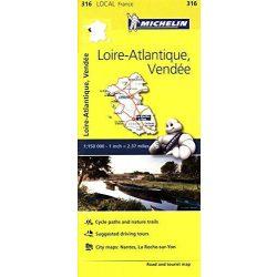 316. Loire-Atlantique, Vende térkép Michelin 1:150 000