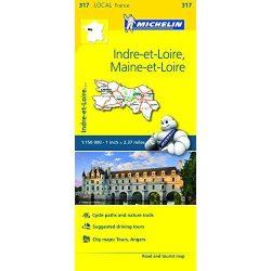 Indre-et-Loire / Maine-et-Loire térkép  0317. 1/150,000