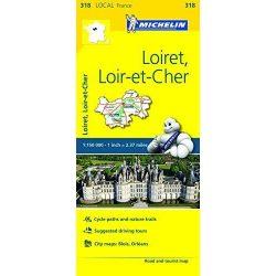 Loiret / Loir-et-Cher térkép  0318. 1/150,000
