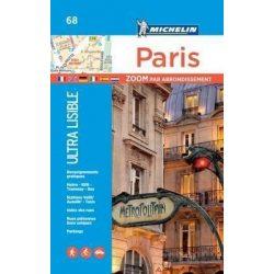68. Párizs térkép Michelin, Párizs atlasz, kisatlasz  2017