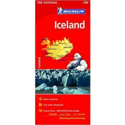 750. Iceland térkép, Izland térkép Michelin 1:500 000