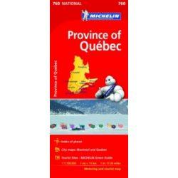760. Quebec térkép  Michelin 1:1 100 000    2016