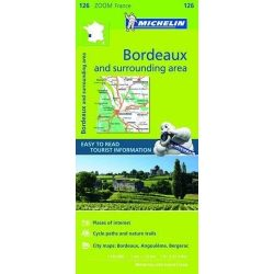 126. Bordeaux és környéke térkép Michelin 2017 Bordeaux térkép 1:150 000