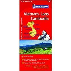 770. Vietnám térkép Michelin Vietnam, Laos, Cambodia térkép 1:1 500 000