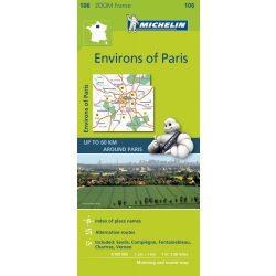 106. Párizs környéke térkép Michelin  1:100 000  2017