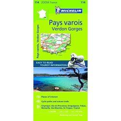 114. Pays varois Verdon Gorges térkép Michelin 1:100 000