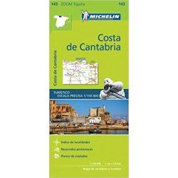 143. Costa de Cantabria térkép Michelin 1:150 000