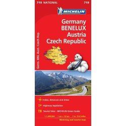 719. Németország, Benelux, Ausztria, Csehország térkép Michelin 2017 1:1 000 000