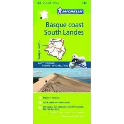 133. Basque Coast térkép - South Landes térkép Michelin 1:150 000