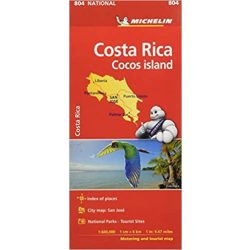 804. Costa Rica térkép Michelin Cocos Islands 1:600 000