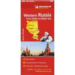 805. Nyugat-Oroszország térkép Michelin  1:2 Mio  Western Russia - Balti-tengertől a Fekete-tengerig 2018
