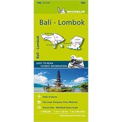 Bali, Lombok térkép Michelin 190.  1:180 000  Bali térkép 2019