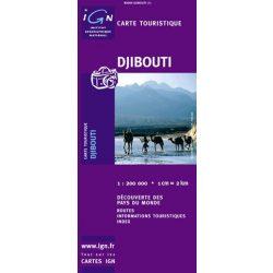 Djibouti térkép IGN. 1:200 000