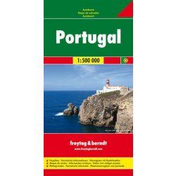 Portugália térkép Freytag térkép  1:500 000  2016   AK 98