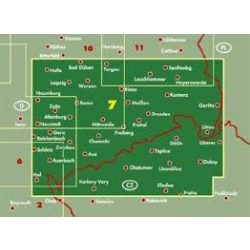 Németország 07 Szászország, 1:200 000  Freytag térkép AK 0209