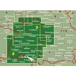 Németország 03 Baden–Württemberg, 1:200 000  Freytag térkép AK 0213