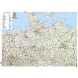 Észak-Németország fémléces, műanyaghengerben, 1:500 000, (129 x 95 cm)  Freytag térkép AK 0206 B