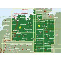 Németország 09 Alsó-Szászország - Bréma, 1:200 000  Freytag térkép AK 0215