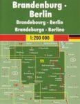 Németország 11 Brandenburg - Berlin, 1:200 000  Freytag térkép AK 0217