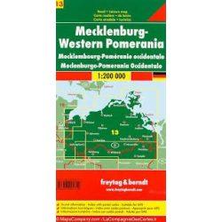 Németország 13 Mecklenburg–Elő-Pomeránia 1:200 000  Freytag térkép AK 0219
