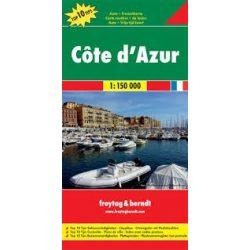 Côte d'Azur, Top 10 tipp, 1:150 000  Freytag térkép AK 0402