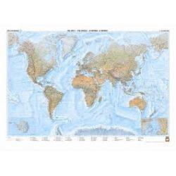 Világtérkép falitérkép tengerfenék-domborzati világ falitérkép, 120x84 cm  Freytag 1:35 000 000  WNATMR 3
