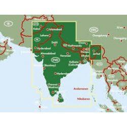 India - Nepál - Banglades - Srí Lanka - Bhután, 1:2 750 000  Freytag térkép AK 110