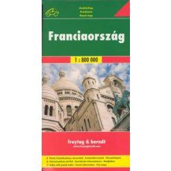 Franciaország térkép Freytag & Berndt 1:800 000
