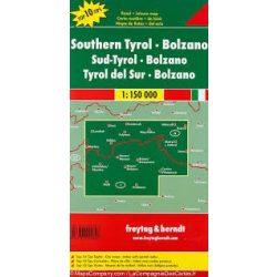 Dél-Tirol térkép, Bozen térkép, Top 10,  1:150 000  Freytag térkép AK 0611