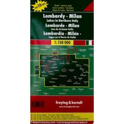 Lombardia térkép - Milánó - É-olasz tavak,  Top 10 tipp, 1:150 000  Freytag AK 0612