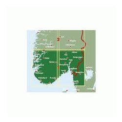Norvégia térkép 1 Dél-Norvégia-Oslo-Bergen-Stavanger, 1:250 000  Freytag térkép AK 0655
