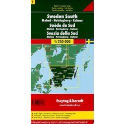Svédország 1 Dél - Malmö-Helsingborg-Kalmar, 1:250 000  Freytag térkép AK 0667